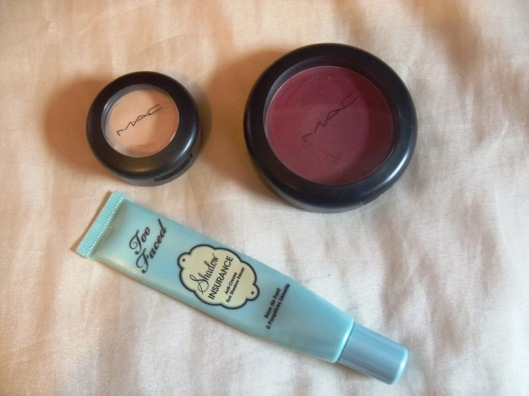 Too Faced Sadow Insurance, Restores Dazle! da MAC e Black Type sombra mate da MAC