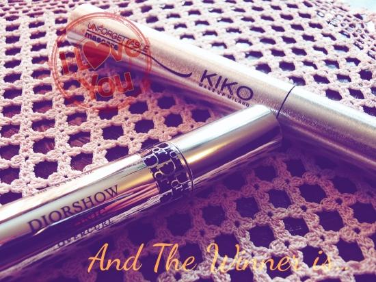 Batalha de máscaras de pestanas Kiko Vs Dior